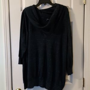 Basic editions 3x navy blue with sparkle  sweater